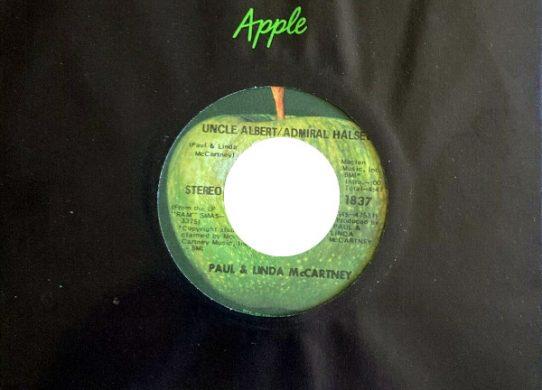Uncle Albert Admiral Halsey 45 rpm sleeve