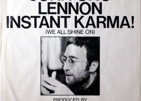 Instant Karma! 45 rpm sleeve