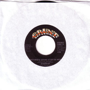 nothing's gonna stop us now 45 rpm single