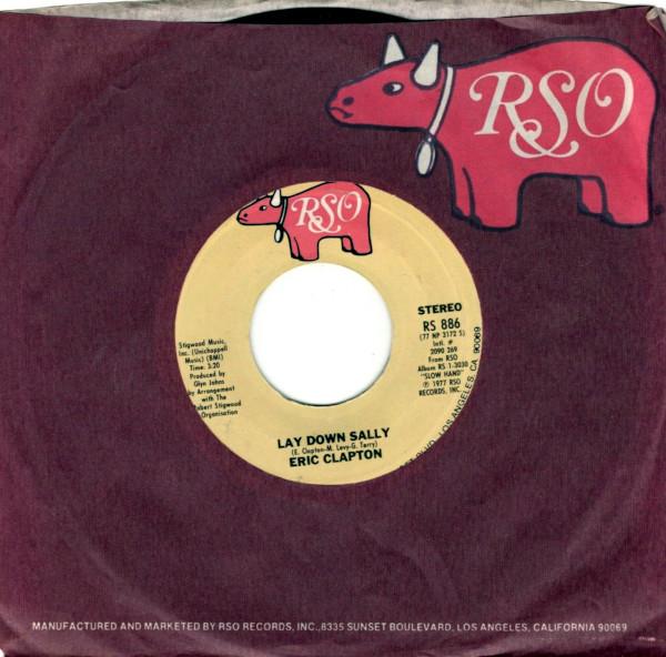 Lay Down Sally 45 rpm sleeve