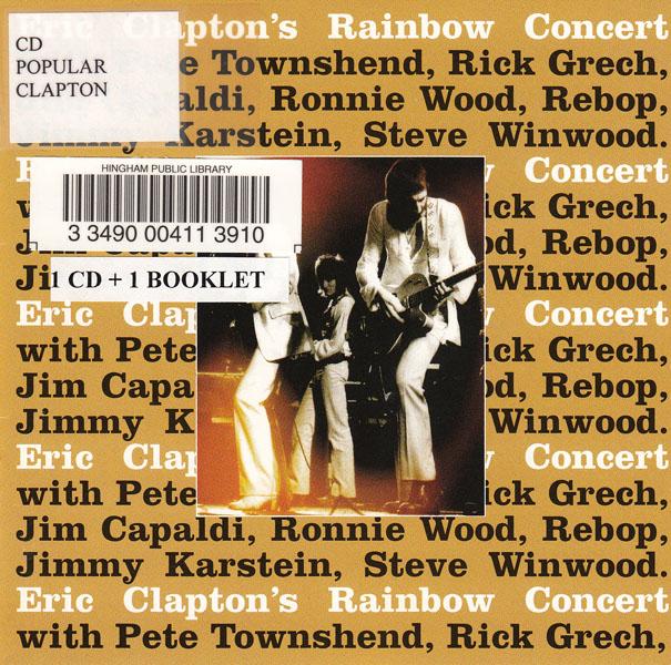 Eric Clapton's Rainbow Concert album cover
