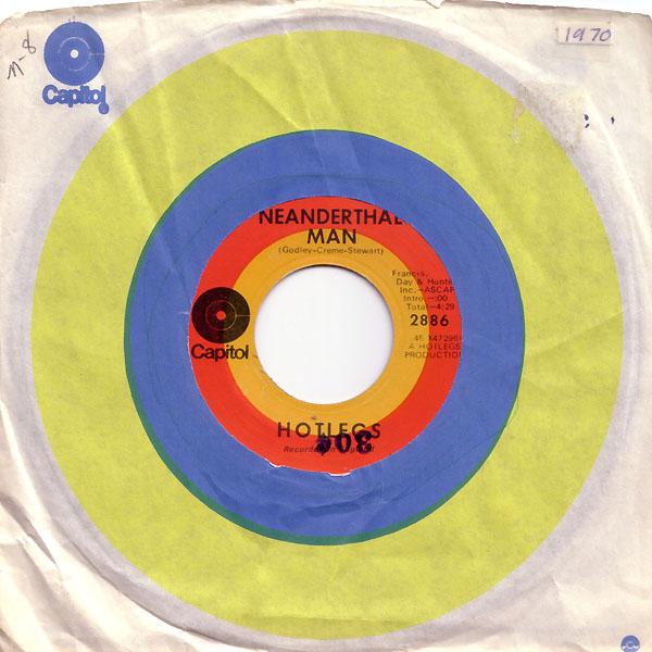 Neanderthal Man 45 rpm single