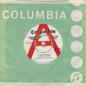 St. James Infirmary 45 rpm sleeve