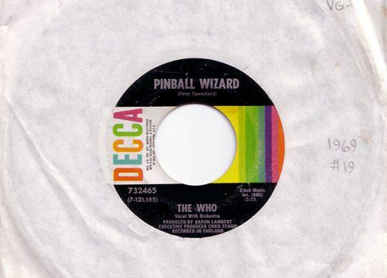 Pinball Wizard 45 rpm sleeve