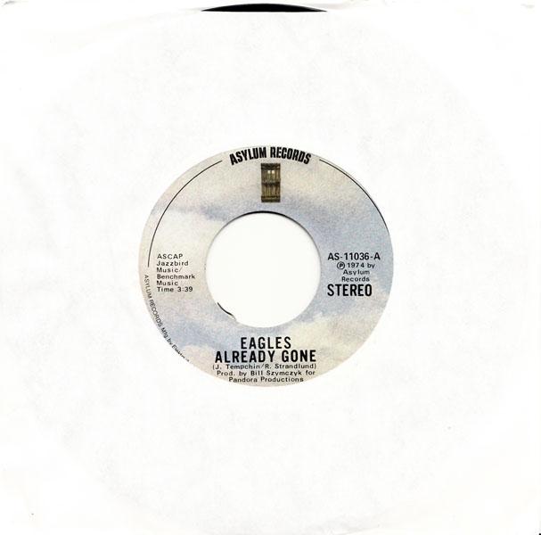 Already Gone 45 rpm single