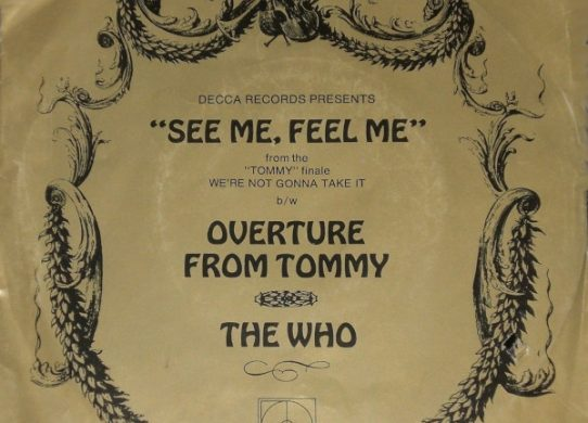 See Me Feel Me 45 rpm single