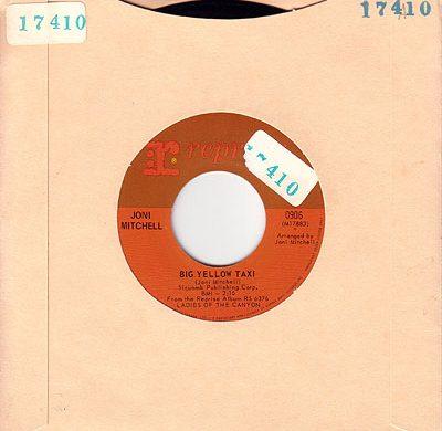 Big Yellow Taxi 45 rpm single