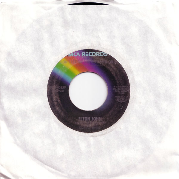 Don't Let The Sun Go Down On Me 45 rpm single