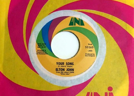 Your Song 45 rpm single