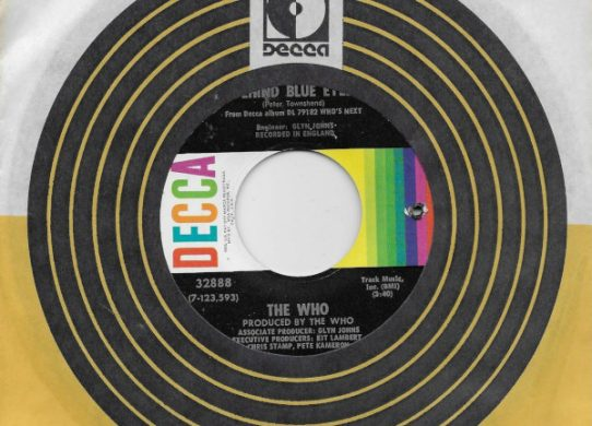 Behind Blue Eyes 45 rpm single