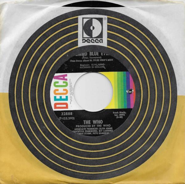 Behind Blue Eyes 45 rpm single