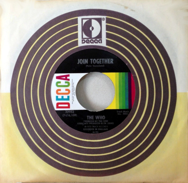 Join Together 45 rpm single