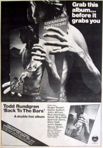 Back To The Bars magazine ad