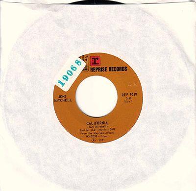 California 45 rpm single