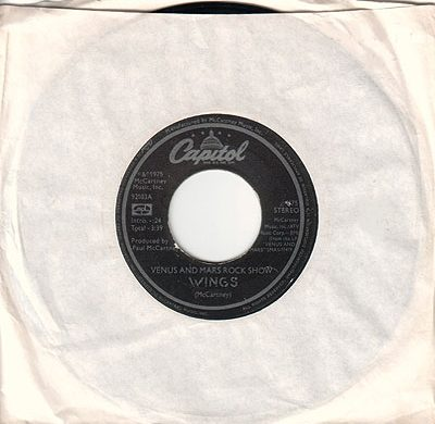 Venus and Mars Rock Show 45 rpm single