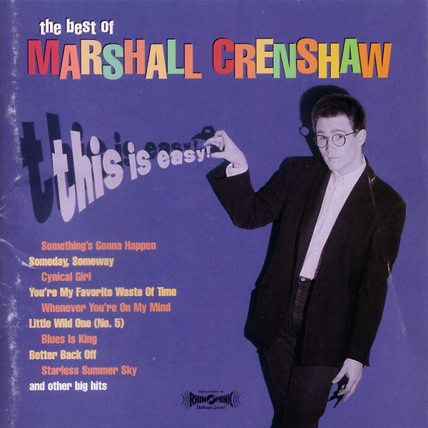 The Best of Marshall Crenshaw This Is Easy album cover