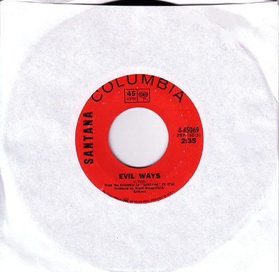 Evil Ways 45 rpm single