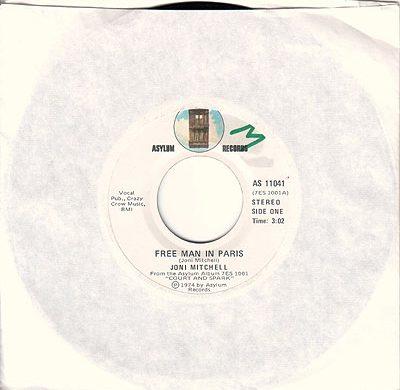 Free Man In Paris 45 rpm single
