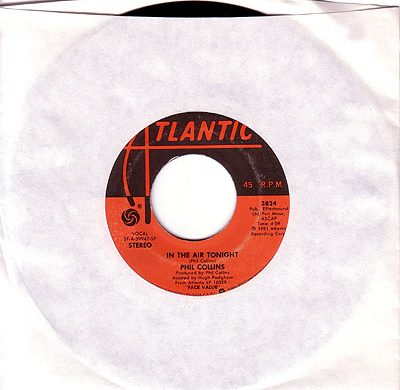 In the Air Tonight 45 rpm single