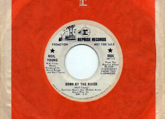 Down By The River 45 rpm sleeve