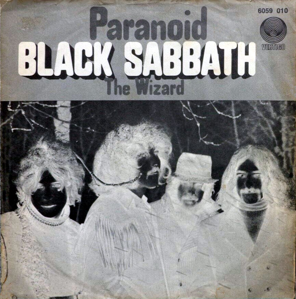 Paranoid picture sleeve