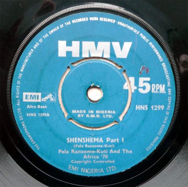 Shenshema 45 rpm single