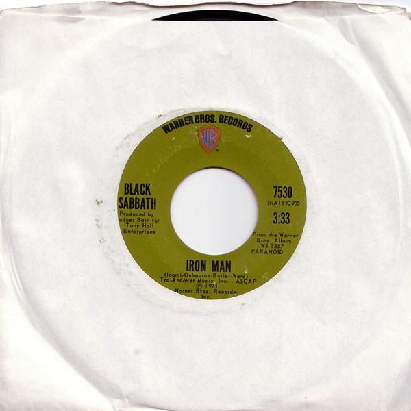 Iron Man 45 rpm sleeve