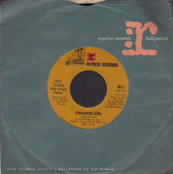 Cinnamon Girl 45 rpm sleeve