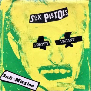 Pretty Vacant 45 rpm sleeve (US)