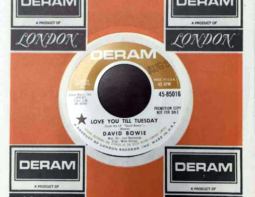 Love You Till Tuesday 45 rpm sleeve