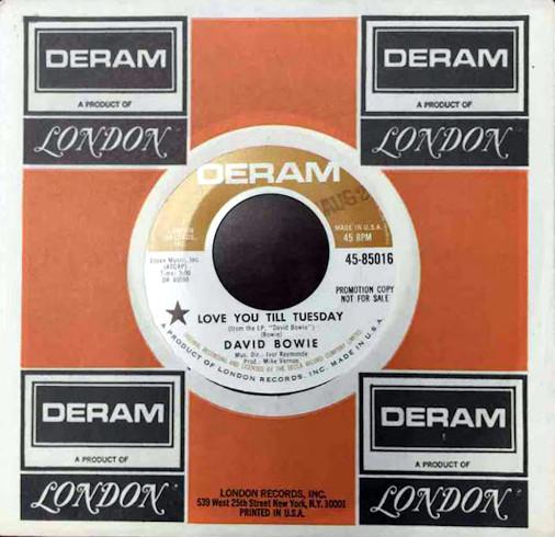 Love You Till Tuesday 45 rpm sleeve