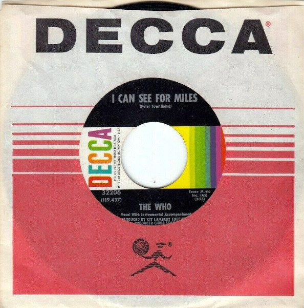I Can See for Miles 45 rpm
